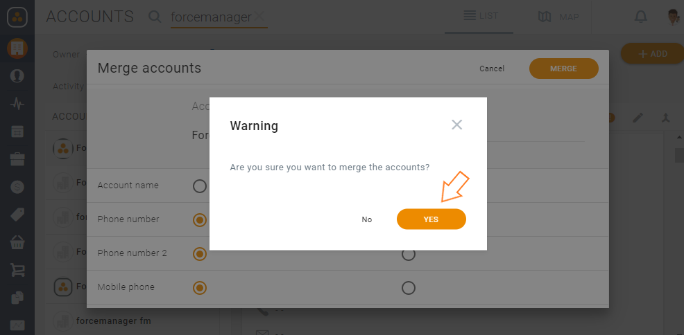 How can I merge accounts? – Support Center ForceManager